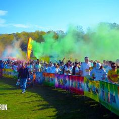 It's raining watermelon! You don't have to duck though just open up! #friday #startline #1st5k #5k #coloredpowder #colorrun #dowhatyoulove