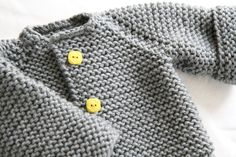 The Raglan Crew Neck Cardigan by Granny knits *Free Pattern.