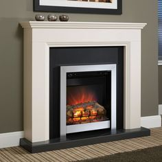 Add a warm glow to your favourite sitting room with this electronic fireplace—perfect for cosying up on chilly nights and adding a homely atmosphere to your space.