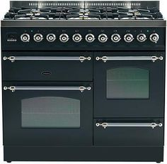 Britannia range cooker - the Classic XG twin oven range cooker Range Cooker 100cm, Oven And Hob, Vintage Stoves, Kitchen Stove, Electric Oven, Oven Range, Oven Cleaning, Beautiful Kitchens, Interior