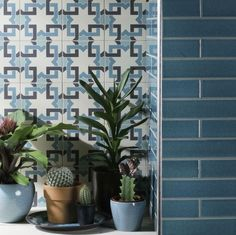 The Beauty of Blue In Your Home & How To Use It | Using kitchens tiles are a great way to introduce colour and pattern together and they're practical. Solid blue tiles compliment the patterned here and will inevitably help break up the expanse of cupboards that most kitchens have. #bluedecor #bluetiles #kitchendecor #kitchenideas #homedecor #interiors #interiordesign #interiorinspo #kitchen #bluekitchens #colourtrends #patternedtiles