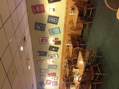 Back banquet room at the South Hill location!  All the posters on the wall are actual Show Posters from each year of Ham On Regal since 1987 when we opened!