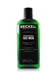 Brickell Men's Products Purifying Charcoal Face Wash, 8 Ounce Brickell Men's Products