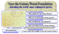 An obviously fake website: Save the Guinea Worm Foundation