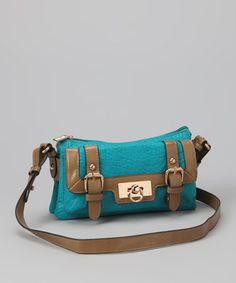 Take a look at this Turquoise Ace Crossbody Bag by Imoshion on #zulily today!