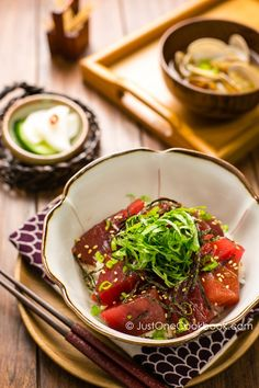 Tuna Bowl (Tekkadon) | Easy Japanese Recipes at JustOneCookbook.com
