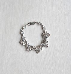 Crystal Bracelet Rhinestone bracelet- bridal, bridesmaid cuff bracelet,bridal bracelet, beaded crystal cuff
