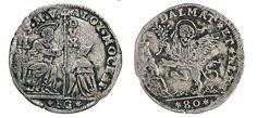 NumisBids: Numismatica Varesi s.a.s. Auction 67, Lot 462 : VENEZIA ALVISE II MOCENIGO (1700-1709) Leone da 80 Soldi per la...