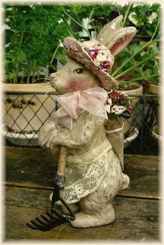 Garden themed rabbit!   http://bygonewhimsies.blogspot.com/