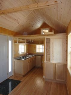 tiny home, tiny house interior. This tiny home was made by Vastu Cabin in Iowa