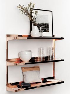 Copper Shelf for The Design Confidential On Display // 5 Stylish Storage Solutions You Can Totally DIY
