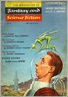 The Magazine of Fantasy and Science Fiction, Aug. 1955, cover by Ed Emshwiller