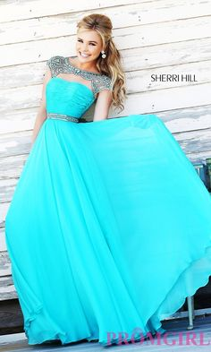 Prom Dresses, Celebrity Dresses, Sexy Evening Gowns: High Neck Floor Length Sherri Hill Dress