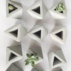 Handmade Eco Friendly Sustainable Mini Concrete Planter