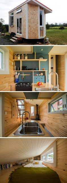 A winterized tiny house for four seasons living.