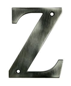 "Deltana RL4Z 4"" Solid Brass Residential Letter Z, Oil Rubbed Bronze by Deltana. $10.80. 4"" Solid Brass Residential Letter Z Deltana's Solid Brass Residential Numbers and Lettering can be mounted on your home, mailbox post or anywhere else. Perfect for addresses or apartment numbers. Deltana is the architectural hardware manufacturer with a proven record for exceptional service and quality. Deltana inventories the country's largest selection of architectural, lighting, a..."