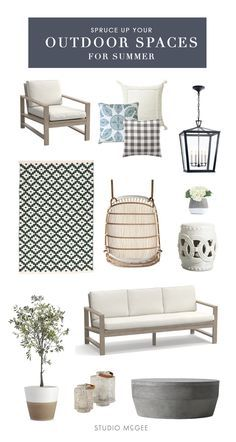 Spruce up your outdoor spaces and get ready for summer!