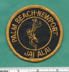 Old Palm Beach Newport Jai Alai Security Police Patch - Florida & Rhode Island | eBay