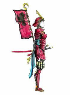 Samurái Woman Japón Dibujo Ilustración