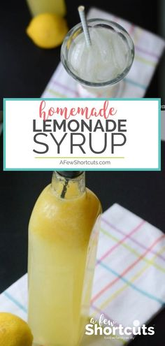 This Homemade Lemonade Syrup recipe makes the best fresh lemonade ever! Perfect for gifts, and there are free printable labels! This Homemade Lemonade Syrup recipe makes the best fresh lemonade ever! Perfect for gifts, and there are free printable labels! Good Lemonade Recipe, Flavored Lemonade, Best Lemonade, Homemade Lemonade Recipes, Homemade Syrup, Raspberry Lemonade, Lemon Recipes, Lemonade Cocktail, Milkshakes