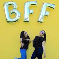 Best Friends Forever ✨hermosa foto de y Letter Balloons, Best Friends Forever, Bffs, Lettering, Photos, Letters, Character, Texting, Bestfriends