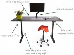 Jarvis Sit Stand Desk