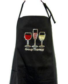 Black Apron Rhinestone Full Size Group Therapy