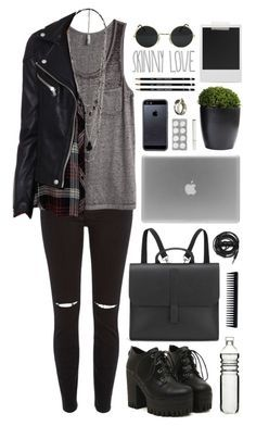 """grunge"" by just-nothing ❤ liked on Polyvore featuring River Island, H&M, Unearthen, Sagaform, Polaroid, Danielle Foster, Urbanears, GHD, Tavik Swimwear and Forever 21"