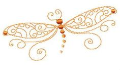 Dragonfly Dragonflies Linework Embroidery Designs New | eBay