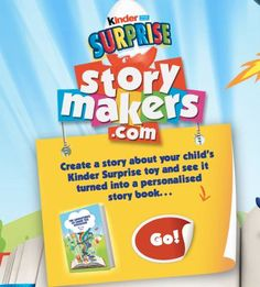 Get free stuff, freebies and samples online today. Updated everyday with Free Stuff, Free Samples, Free Competitions and UK Freebies. Updated daily with the Latest Free Stuff. | Kinder Surprise have 6,500 FREE personalised story books to give away. You and your child create your story book online, choosing a Kinder toy to star and