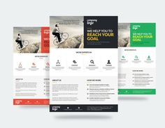Check Out  In  Geometric Corporate Flyer By Dhixaz On Creative
