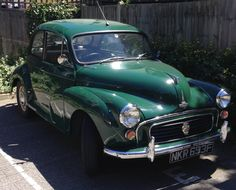 Our 1968 Morris Minor 1000 - Aubrey looking fabulous after his respray