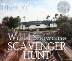 Photo scavenger hunt from EPCOT