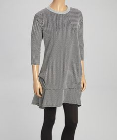 Another great find on #zulily! Black & White Polka Dot Tunic - Women & Plus #zulily.com finds
