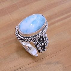 Spotted while shopping on Poshmark: Sterling Silver & Larimar Ring! #poshmark #fashion #shopping #style #Jewelry
