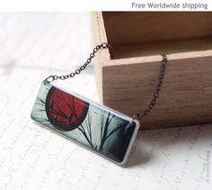 Full Moon necklace  Red necklace  Vampire N045 by BeautySpot, $22.00