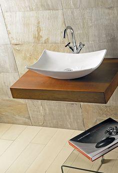 para un efecto sutil utiliza un do que nunca falla un lavabo con un