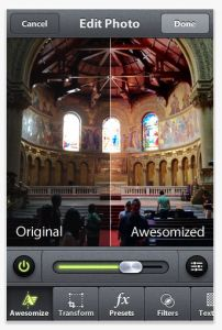 This FREE camera looks great.  Works on iPhone and iPad.  Must see to believe.