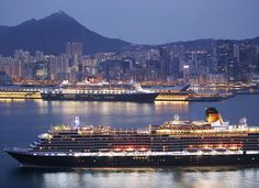 Queen Victoria in Victoria Harbour - The Standard