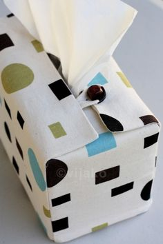 Dot Square tissue box cover. $25.00, via Etsy.
