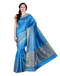 Parchayee Blue Solid Tussar silk Saree: Amazon : Clothing & Accessories  http://www.amazon.in/s/ref=as_li_ss_tl?_encoding=UTF8&camp=3626&creative=24822&field-keywords=Tussar%20Silk%20Sarees&linkCode=ur2&tag=onlishopind05-21&url=search-alias%3Dapparel   #Tussar #Silk #Sarees