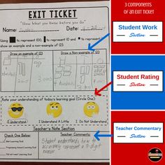 Here's a terrific blog post on checking for understanding with exit tickets.