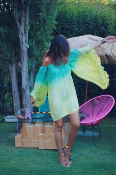 green - mytenida Boho Look, Boho Style, Style Me, Teen Fashion, Boho Fashion, Summer Beach Looks, Ibiza Dress, Moda Boho, Summer Breeze