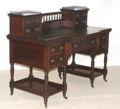 Late Victorian writing desk by Maple and Co - not really fashionable today - but the height of good taste in the 1890's! Been in the same law office from new -