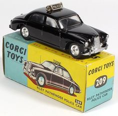 difficult to find with shaped spun wheels and in blue and yellow box Antique Toys, Vintage Toys, Miniature Cars, Old School Toys, Corgi Toys, Matchbox Cars, Metal Toys, Hot Wheels Cars, Vintage Models