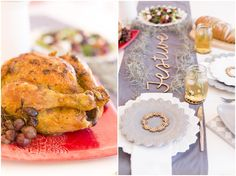 Rosemary Roasted Chicken with roasted grapes Rosemary Roasted Chicken, Pretoria, Festive, Turkey, Make It Yourself, Easy, Table, Recipes, Food