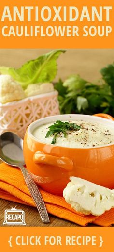 Need a health-packed recipe? Try out Dr. Andrew Weil's Curried Cauliflower Soup. It contains foods from all five categories of his anti-inflammatory diet.