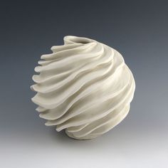 Naked White Ceramic Sculptural Vessel.