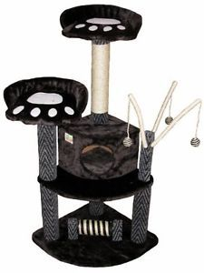 Go-Pet-Kitten-Kitty-Club-Cat-Tree-Condo-House-Scratching-Tower-Play-Deluxe-Black
