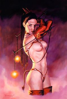 Erotic nude fantasy women art